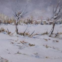 Nevicata 2013 (Snowfall 2013) - Leonetta Rossi painter