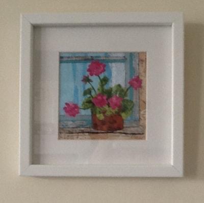 Pink Geranium - framed