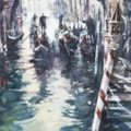 Looking to the Grand Canal, Venice, watercolour