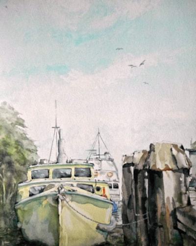 Thames. En plein air