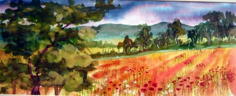 POPPIES IN THE VALE