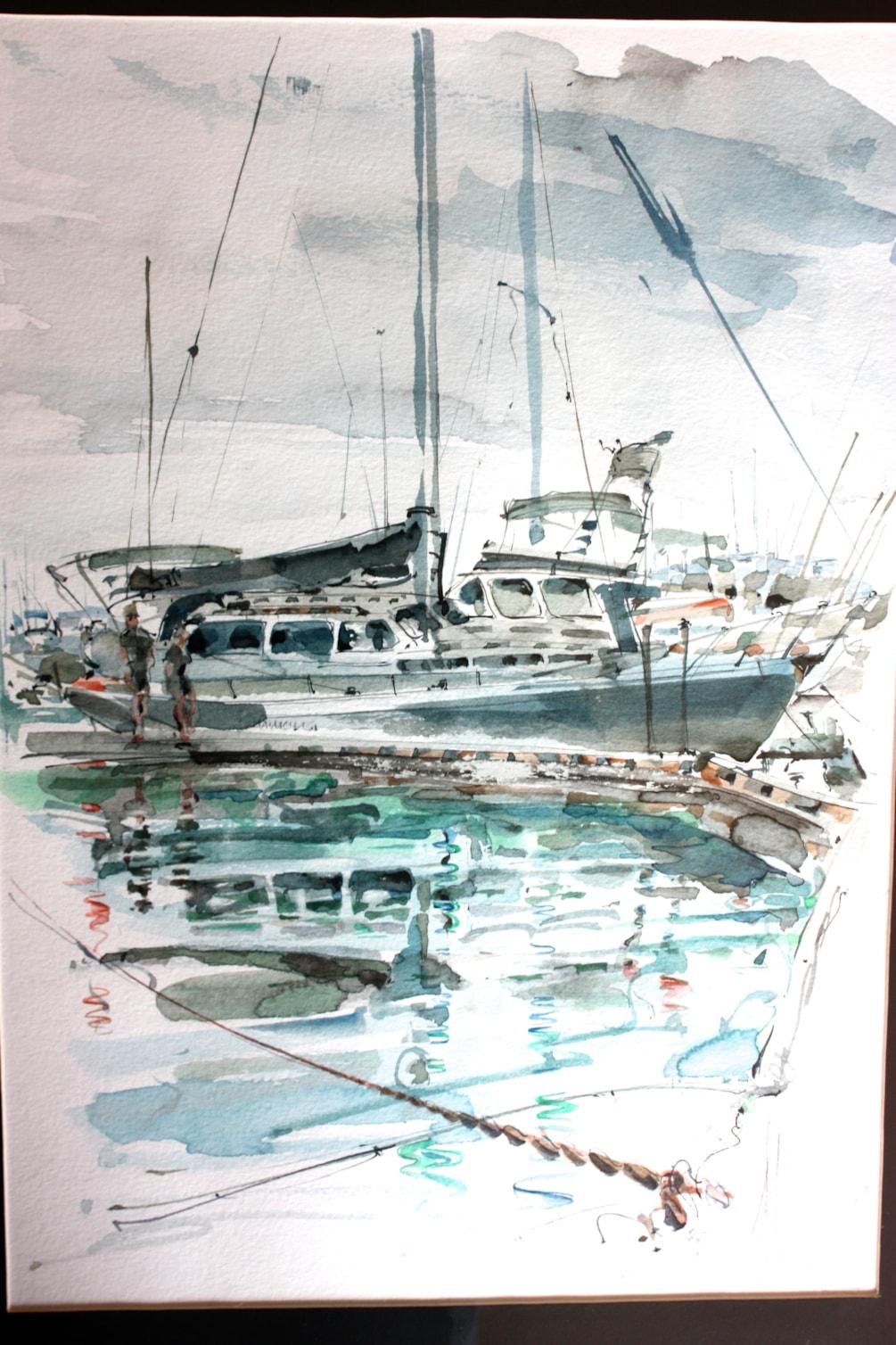 Bucklands Beach, Half Moon Bay Marina. Friends Boat