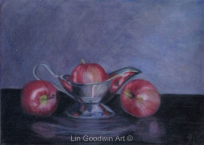 Apples and Silver Boat