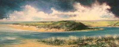 Alnmouth Bay by Carole Kelly  10 x 18
