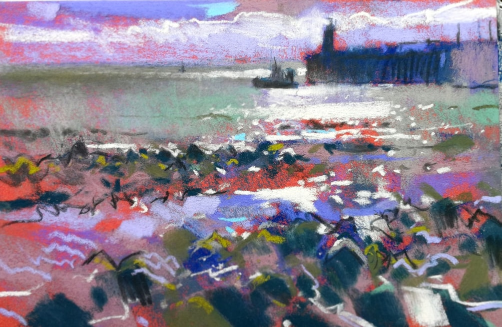 Newlyn Harbour plein air study
