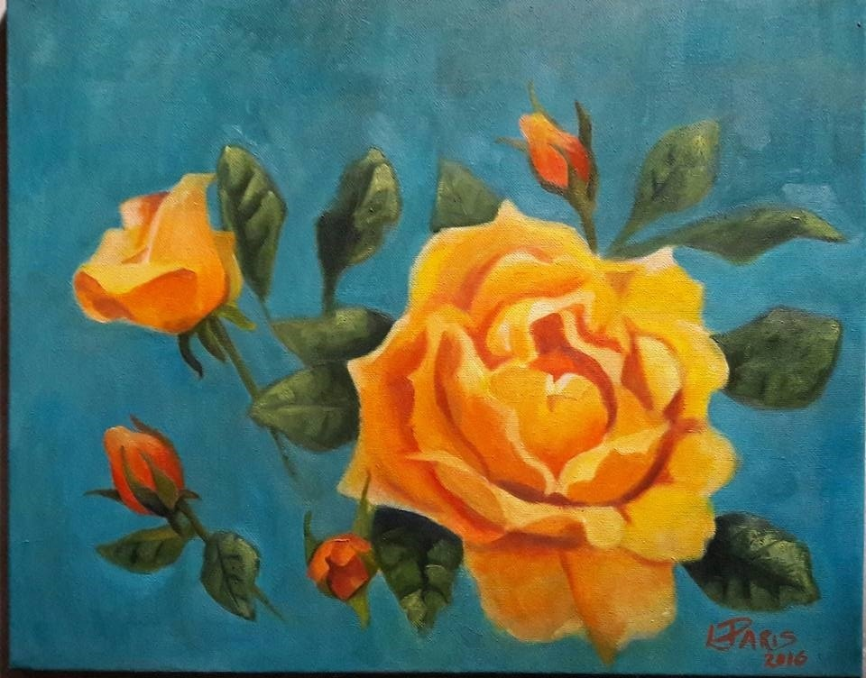 Yellow rose and buds