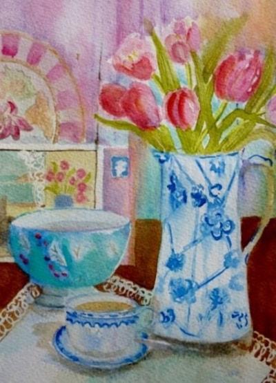Tea and tulips