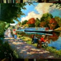Sunday by the canal.20 x 24ins