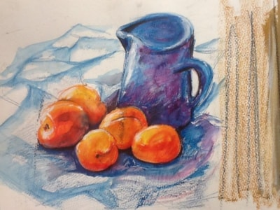 APRICOTS AND BLUE JUG?