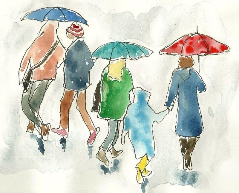 Rainy Days and Mondays - one liner