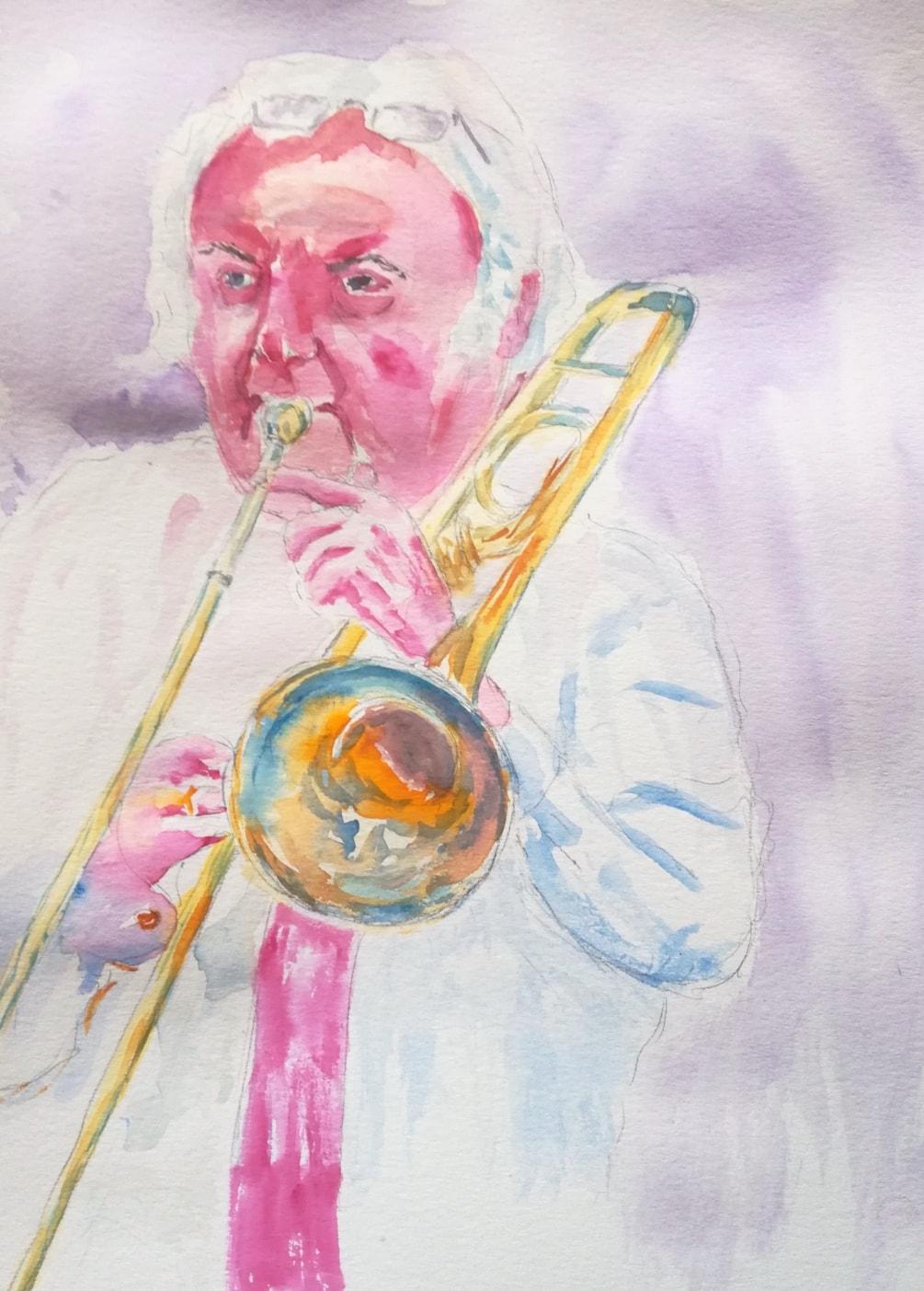 Trombone Player (Quick Sketch)