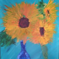 1910#1 Sunflowers - acrylics palette knife (photo)
