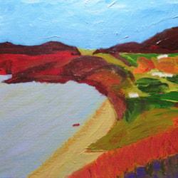 1911#5 Impressionist Landscape (commission) - acrylics (photo)