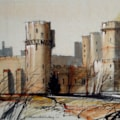 Warwick Castle - En-plein-air sketch.