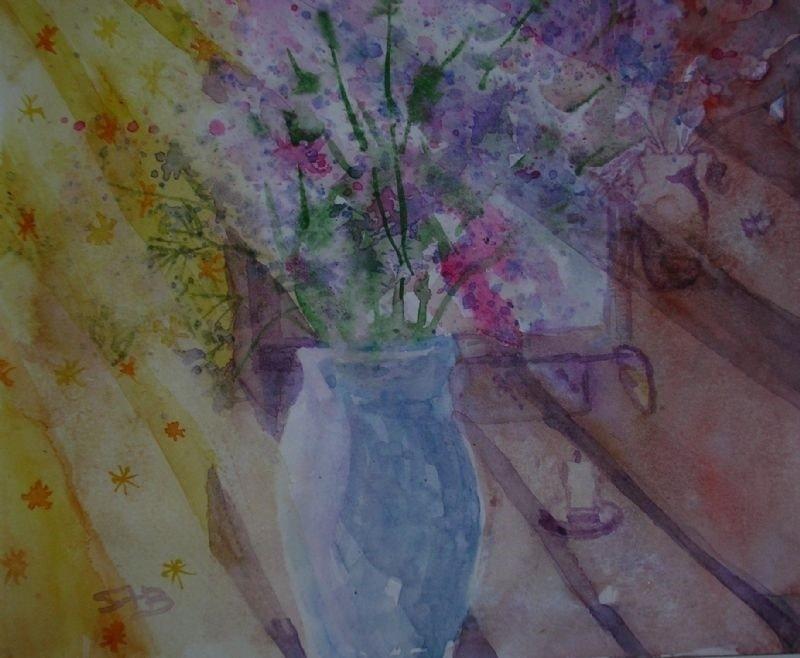 Sunbeams and flowers