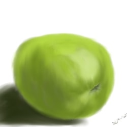 apple in pastel iPad
