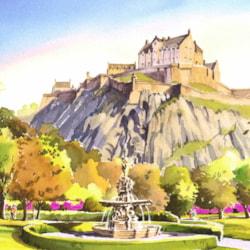 Edinburgh Castle from the Princes Street Gardens