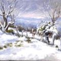Leonetta Rossi Painter - Snow  in Valmarecchia