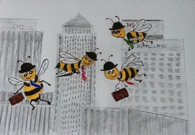 White Collar Worker Bees