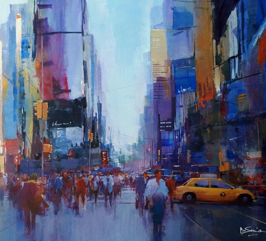 Along  Broadway, NYC