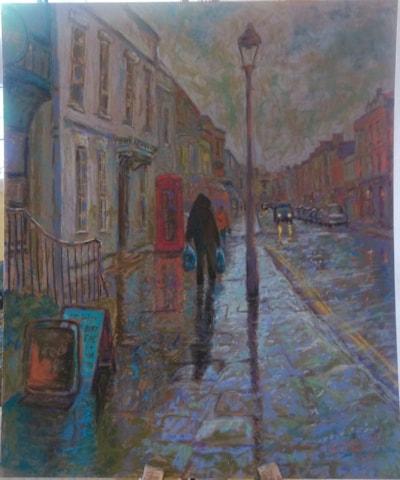 glastonbury rainy day SOLD