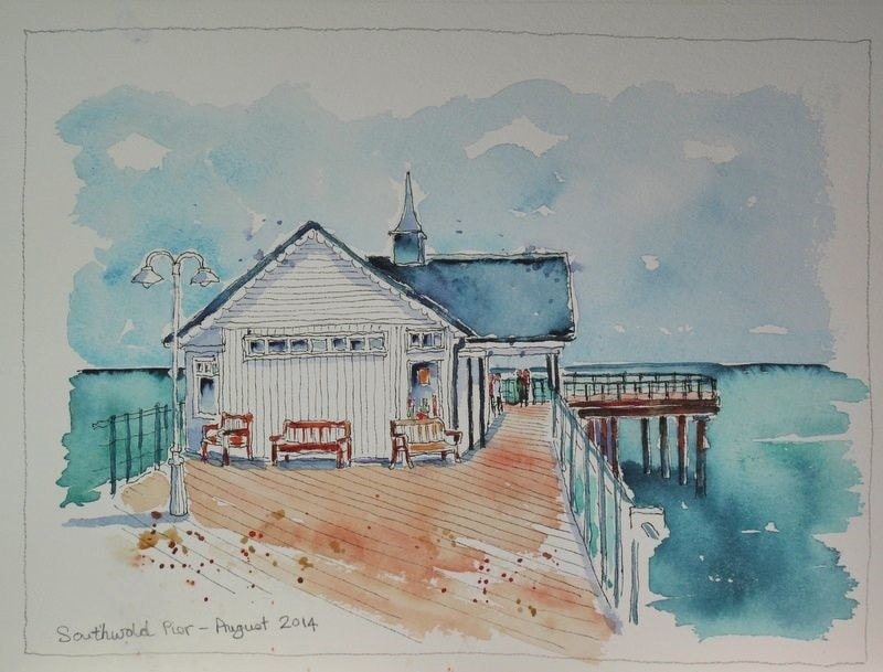 Sketches from my Holiday - Southwold Pier