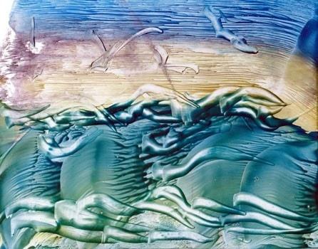 Encaustic Wax Seascape