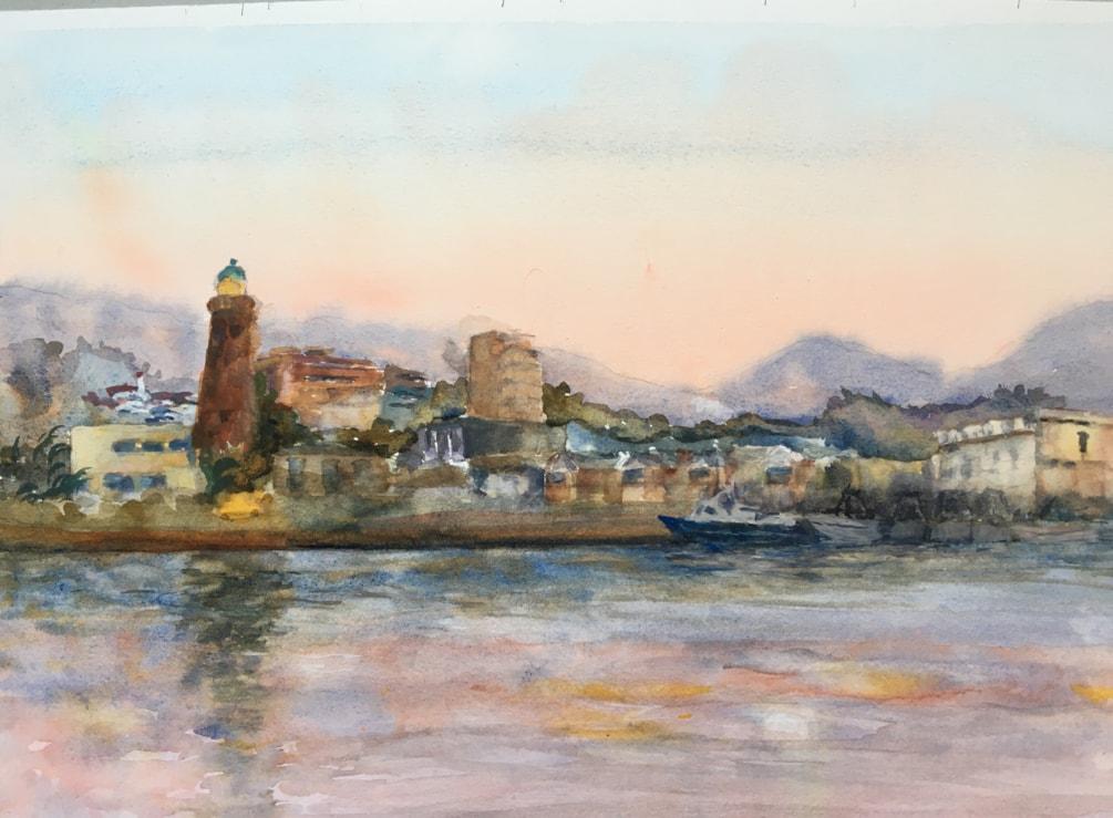 Early evening Estepona port