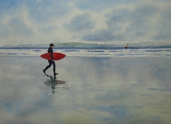 A man, a board and a buoy