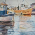 Boats at Brancaster Staithe in Norfolk.