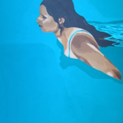 Ulysses Siren, 2015. Acrylic on stretched canvas, 61x45cm.
