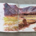 Sketchbook Painting 1 -Glen Clova (Angus Glens)