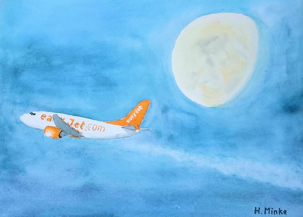 20190918_Jet vor Mond 2