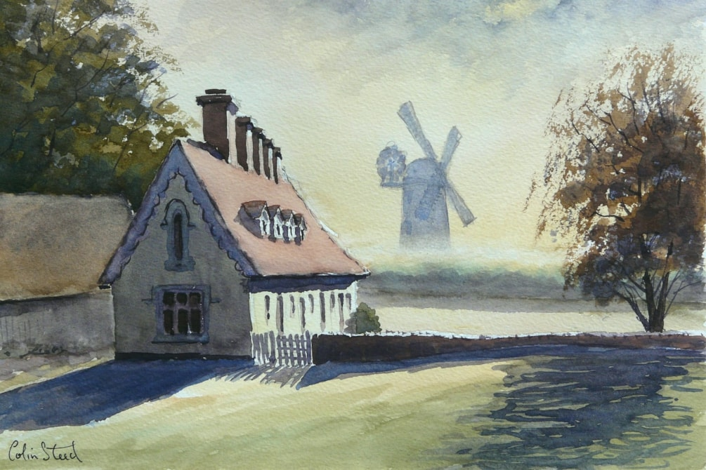 Alms Houses & Mill, Thaxted