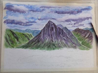 Buachaille Etive Mo'r' work in progress (now spelt correctly thanks Fiona)