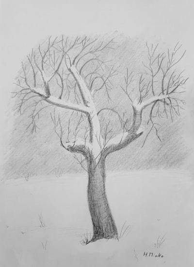 20210207 Apfelbaum im Schnee