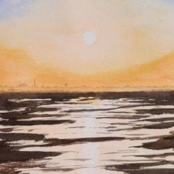 20210811_Wattenmeer Sonnenuntergang
