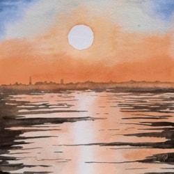 20210814_Wattenmeer Sonnenuntergang