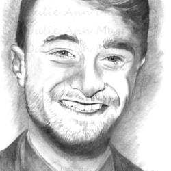 The Magic of Daniel Radcliffe (30cm x 21cm) - Derwent Graphite on Drafting Film