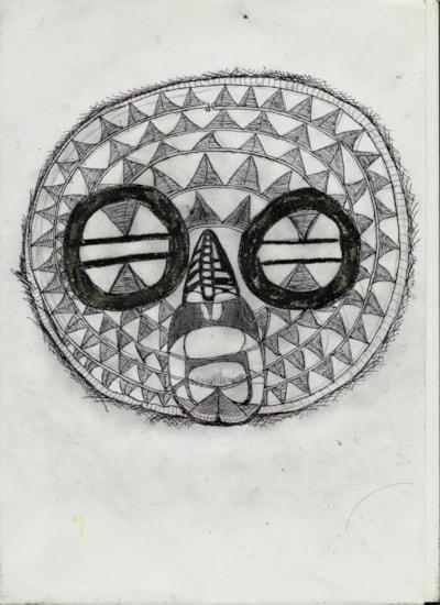 Traditional Zulu warrior mask