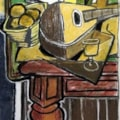 Still Life with Mandolin (in manner of Braque) 2