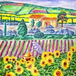 Susan in the sunflowers