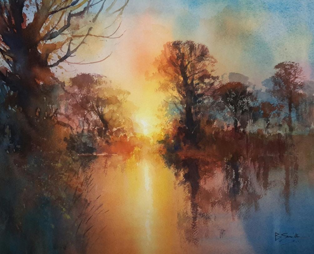 Sunset River Wey