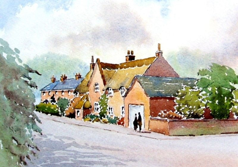 Watercolours  of Leicestershire - North Kilworth