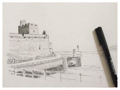 Peel Castle Isle of Man WIP
