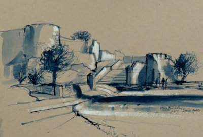 Castell de Denia – Plein air sketch.
