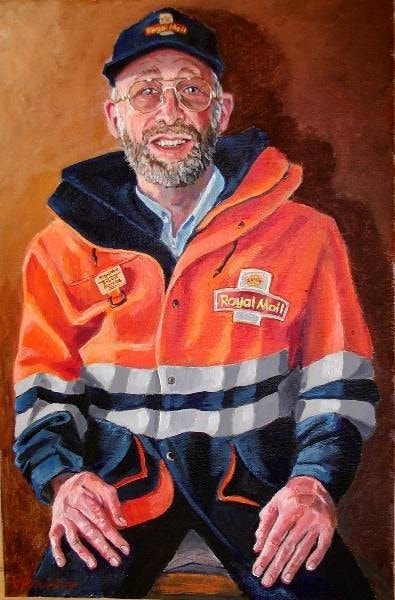 Robert the Postman, Acrylic, 36insx20ins