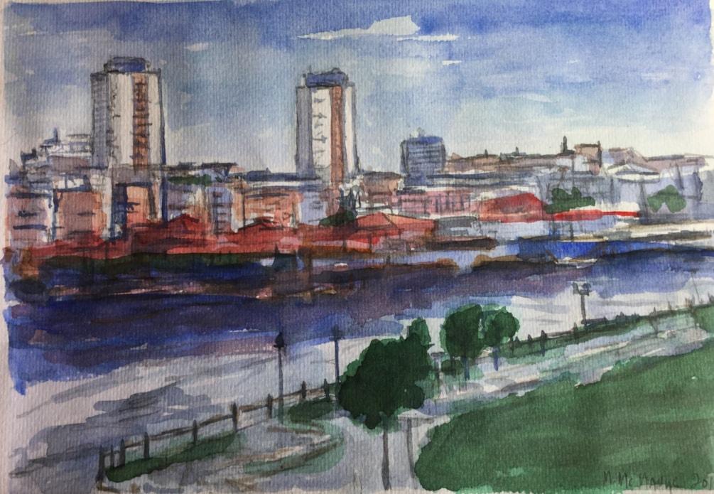 Sunderland skyline from the National Glass Centre.
