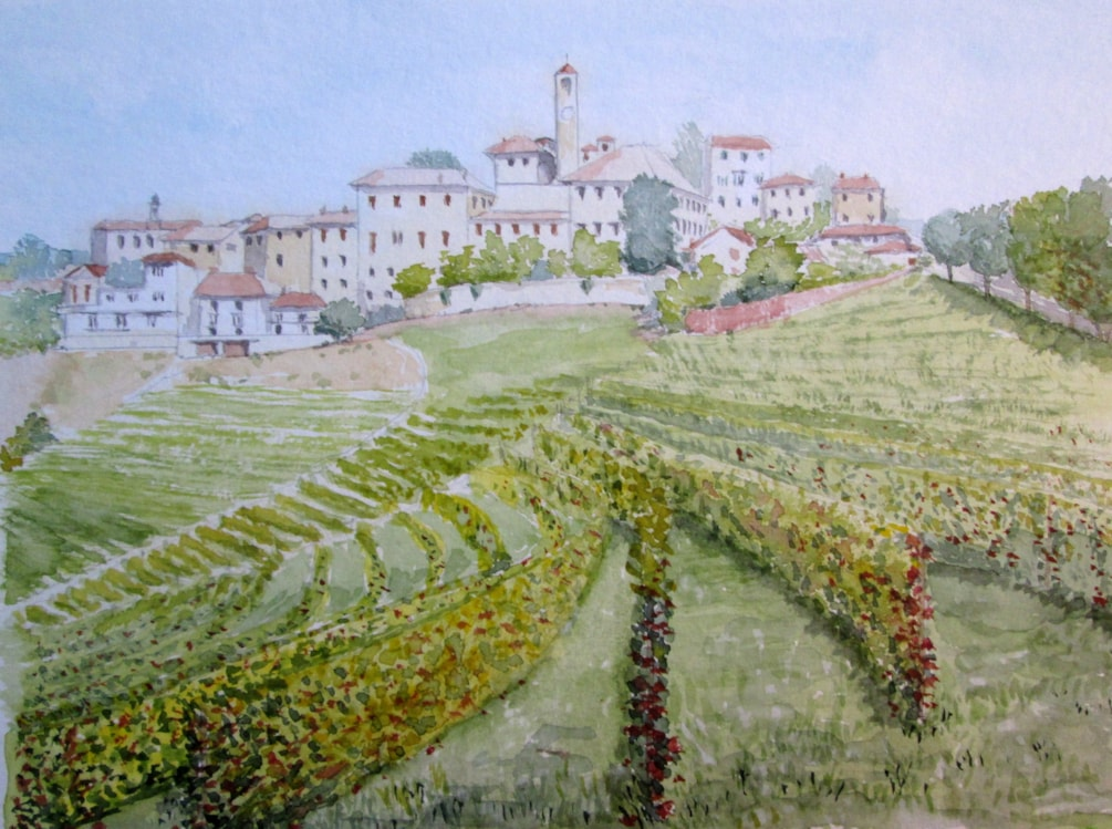 After the grape harvest, Piedmont, Italy.
