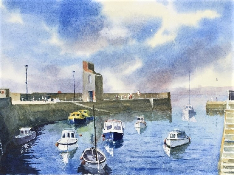 Evening at Lynmouth Harbour